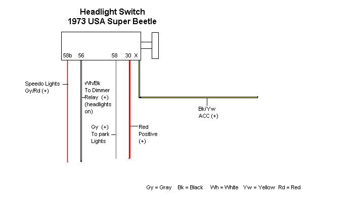vw beetle headlight wiring diagram   34 wiring diagram