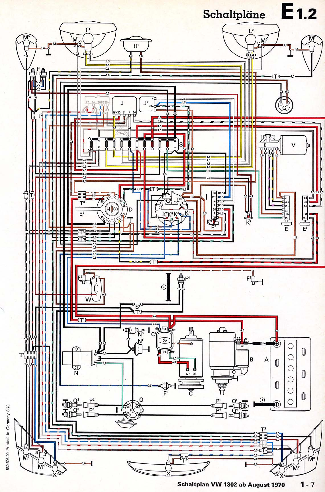 1971 vw super beetle wiring diagram
